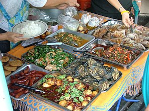 English: Typical Thai Food in Street-cusine. B...
