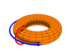A toroidal coordinate system in common use in ...
