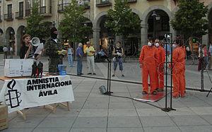 Acto realizado por Amnistía Internacional en Á...