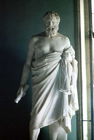 Statue of an unknown Cynic philosopher from th...