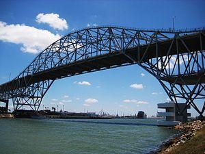 The bridge crossing into Corpus Christi.