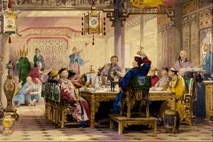 Dinner Party at a Mandarin's House - Thomas Allom