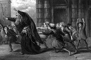 Shylock After the Trial, describing Act II, Sc...