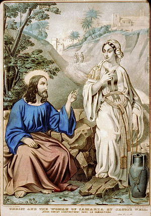 English: Christ and the woman of Samaria at Ja...