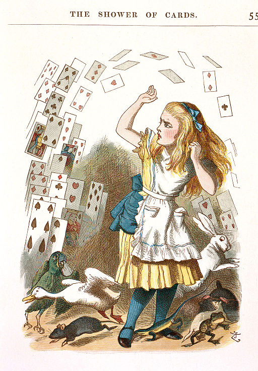 John Tenniel - Illustration from The Nursery Alice (1890) - c06544 05