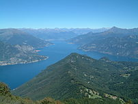 View of Lake Como from Mount San Primo