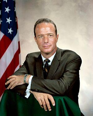 English: Portrait of Astro Scott Carpenter. Im...