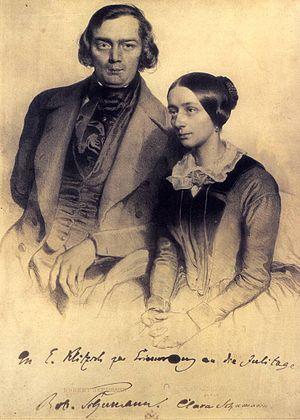 Robert u Clara Schumann 1847