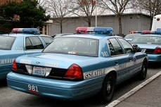 English: A group of Seattle Police cars.
