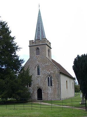 The 12th century Steventon church, which was t...
