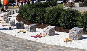 English: Virginia Tech massacre memorial on th...