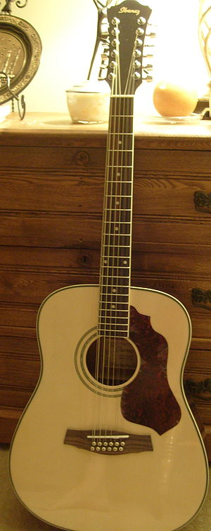 English: A photo of an Ibanez SGT 122 12 strin...