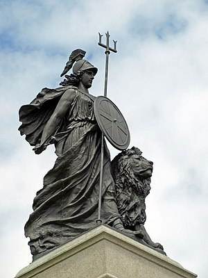 Photograph of Brittania statue, taken 13th Jun...