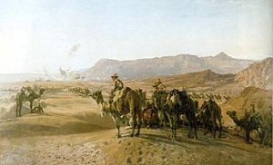Mounted troops of the Imperial Camel Corps Bri...