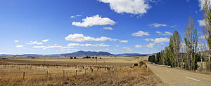 Fields outside Benambra, Victoria, Australia s...