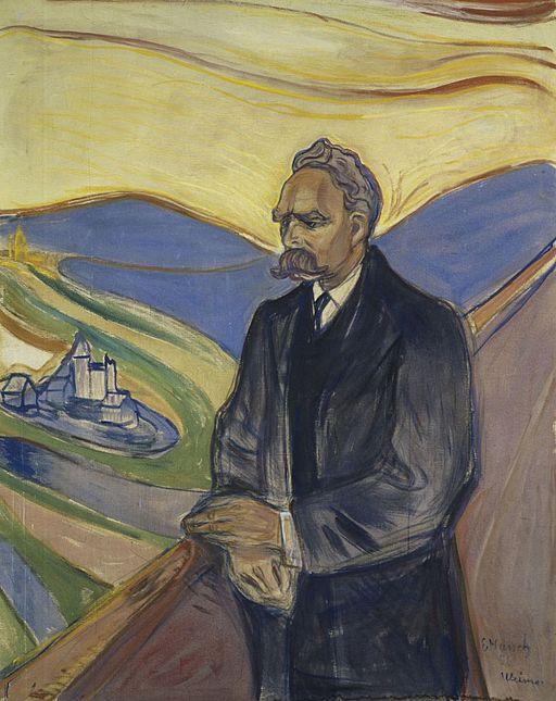 """Portrait of Friedrich Nietzsche"" by Edvard Munch"