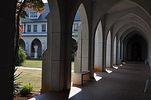 English: A view of the cloister garden and sta...