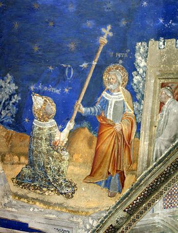 Français : La vie de saint Martial - Remise du...