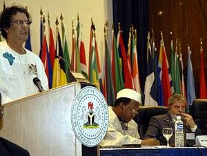 The leader de facto of Libya, Muammar al-Gadda...