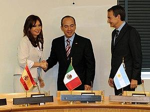 Reunión con Zapatero y Calderón en Nueva York