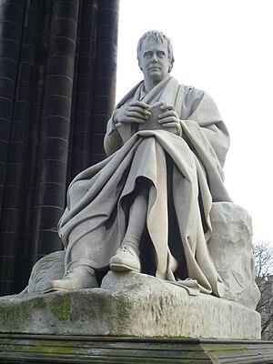 English: Sir Walter Scott statue by Sir John S...