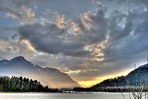 View of the Fraser River from downtown Hope, B...
