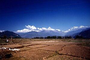 English: Annapurna Himal,Nepal, seen from Pokh...