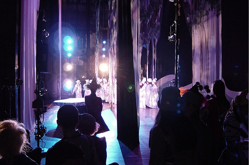 View of a performance from the wings