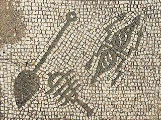 Mosaic, Mitreo di Felicissimus, Ostia Antica, Latium