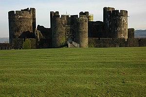 English: Caerphilly Castle Caerphilly Castle v...