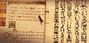 A page of a notebook written by Champollion