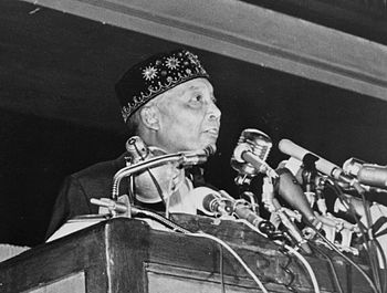 detail of a photo where Elijah Muhammad addres...