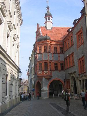 The Schönhof, the oldest Renaissance building ...