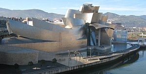 The Guggenheim Museum Bilbao by Frank Gehry, o...