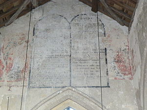 English: St Johns Church Inglesham, interior