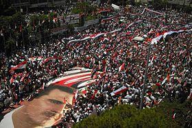 Pro-Assad demonstration in Latakia, 20 June 2011