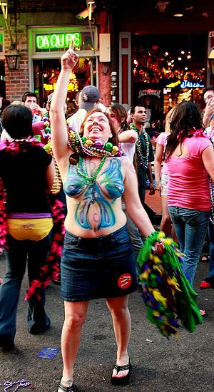 New Orleans Mardi Gras revelry in the French Q...