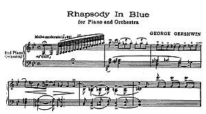 opening bars rhapsody in blue - gershwin