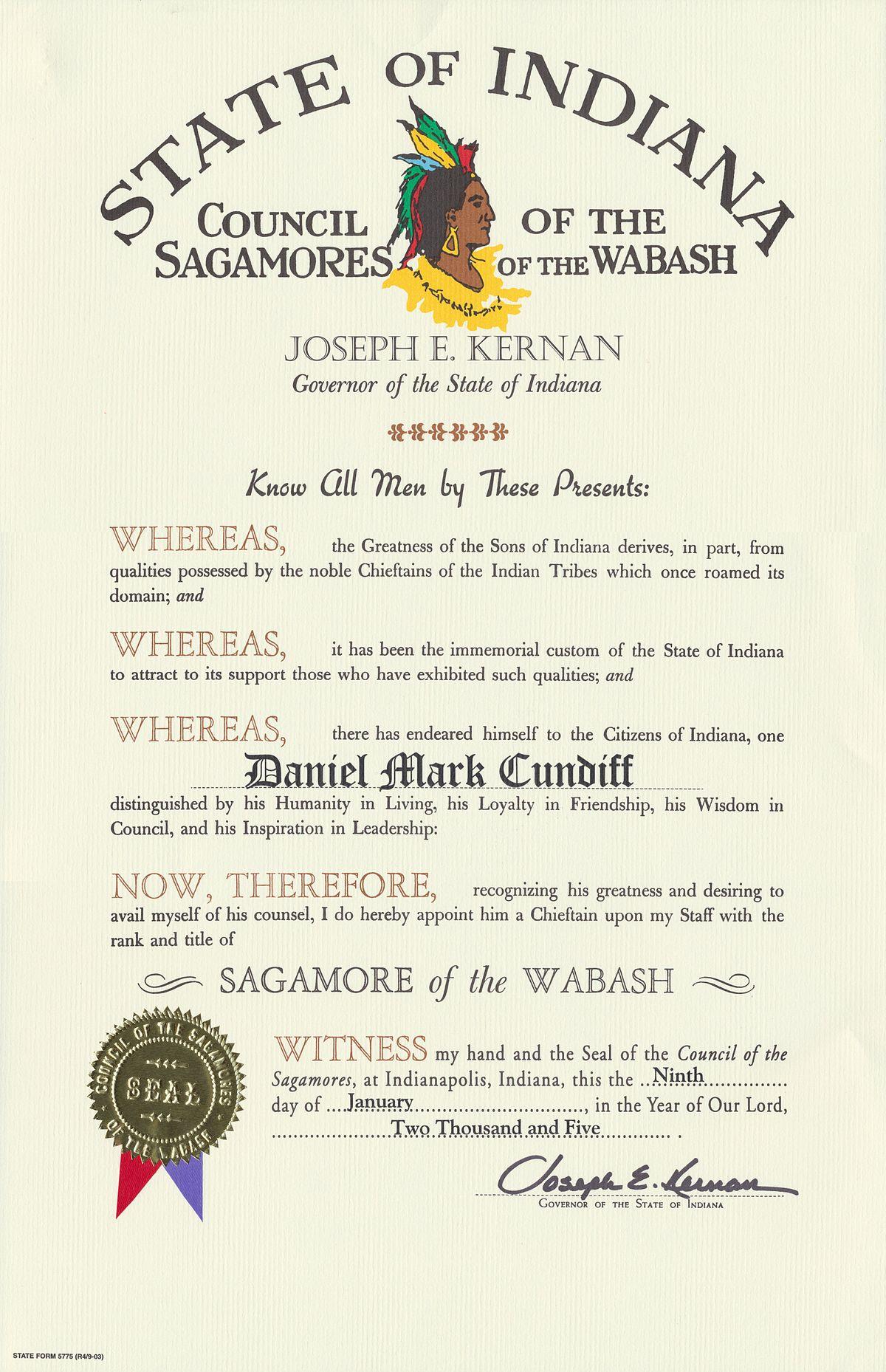 Sagamore Of The Wabash Wikipedia