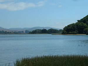 View south-east across Tomales Bay from Invern...