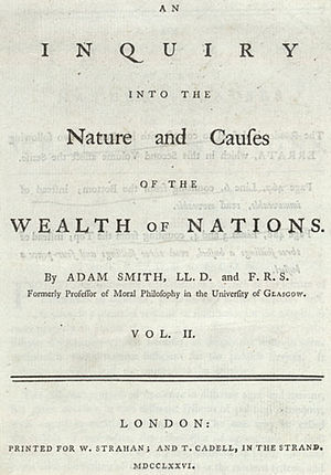 English: Title page of Adam Smith's Wealth of ...