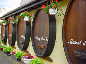 Wine barrels in Alsace, France, for wines of s...