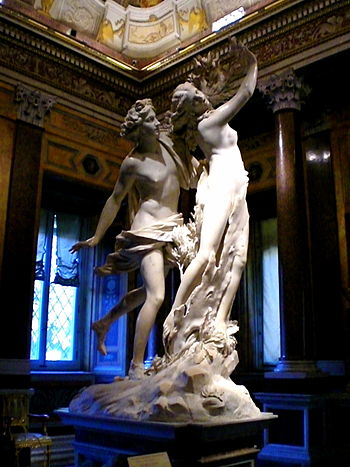"English: The sculpture ""Apollo and Daphne..."