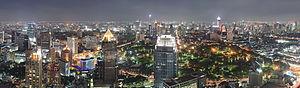 Bangkok at night, seen from top of Banyan Tree...