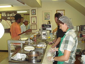 Our Father's House Soup Kitchen serving the la...