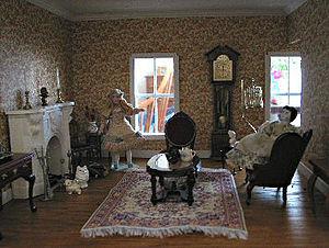 Living Room of Dollhouse. Maine, USA