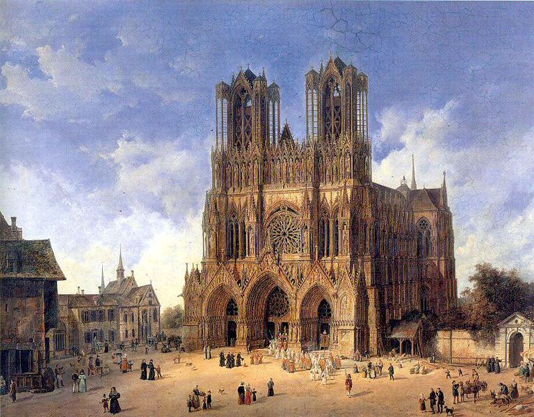 Domenico Quaglio (1787 - 1837), katedra w Reims
