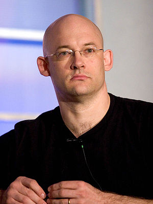 Clay Shirky on the Folksonomy panel. This phot...