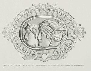 English: Stylized portraits of Ptolemy Philade...