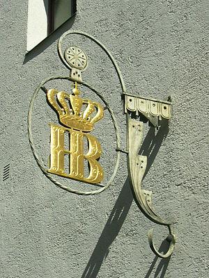 Deutsch: Hofbräu-Logo am Hofbräuhaus am Platzl...